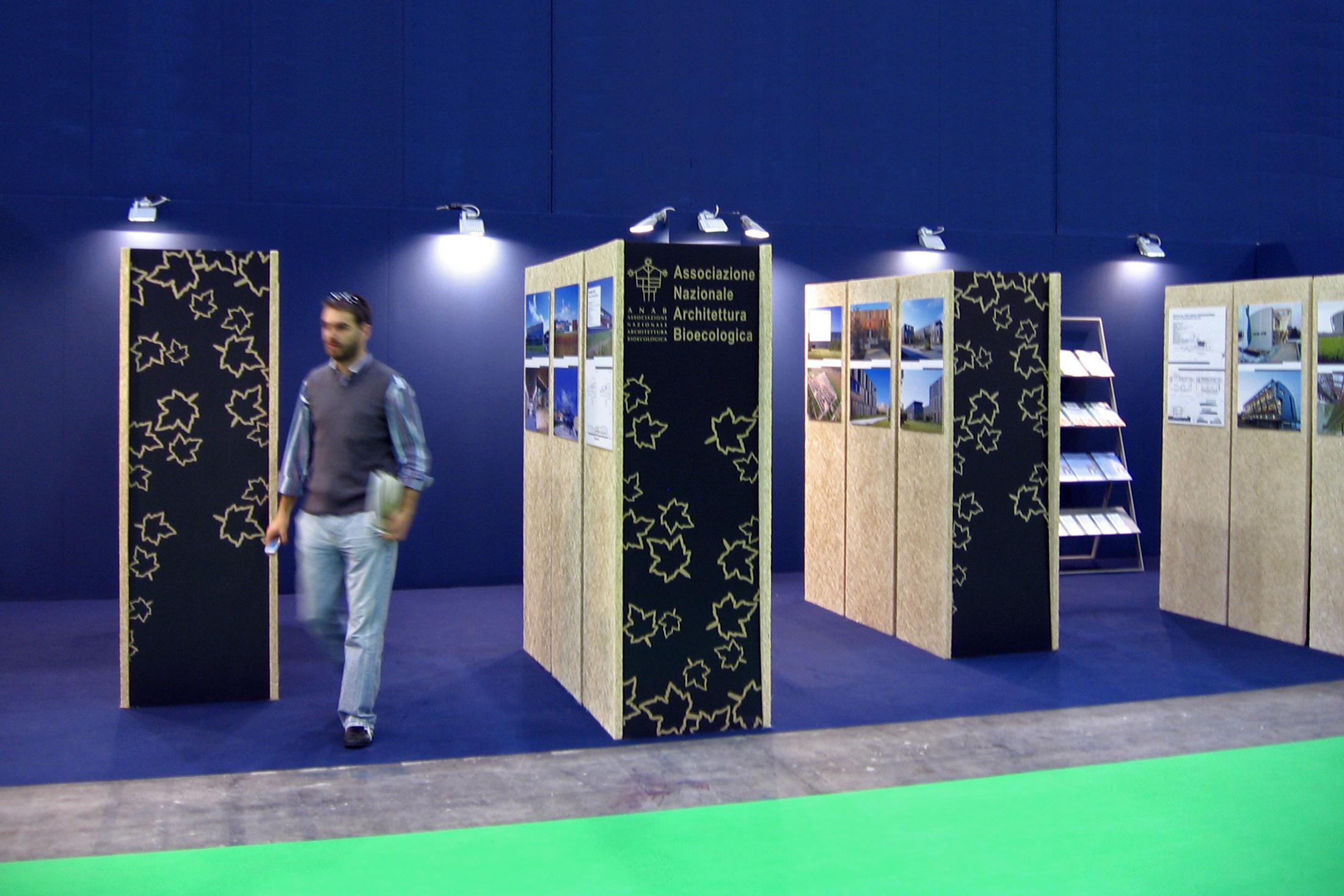 Progettazione stand sostenibile - Greenbuilding 2008
